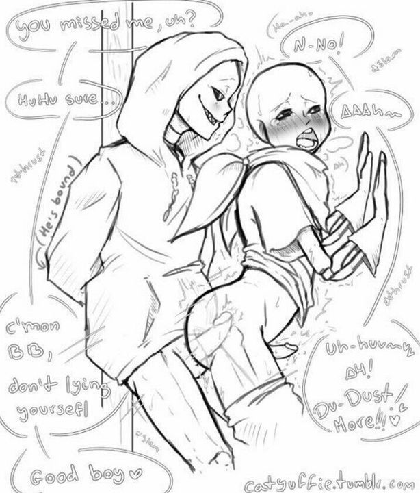 underswap sans underfell and sans Tomb raider fucked by horse